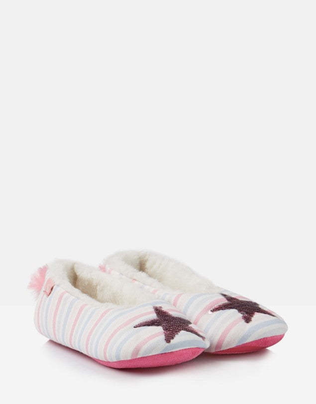 Joules, Shoes - Girl,  Joules Dreama Silver Star Slippers
