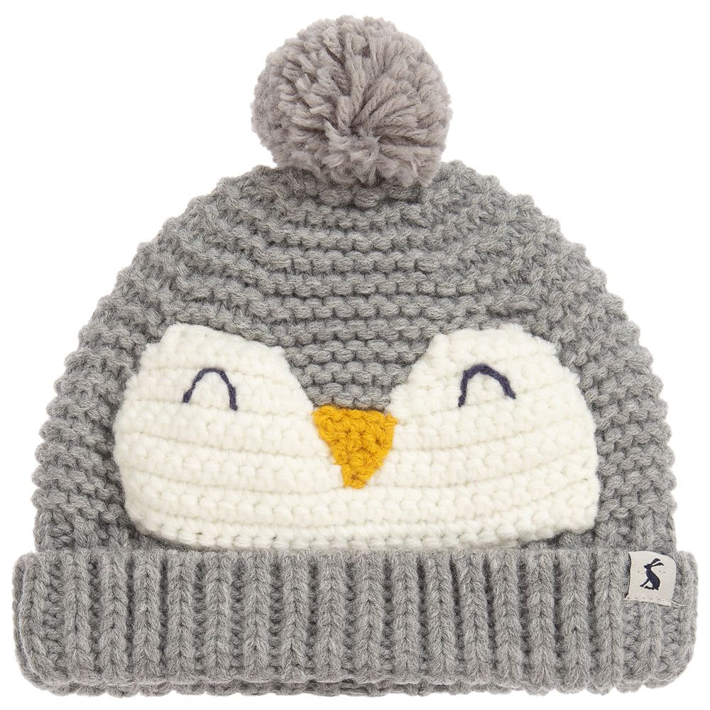 Joules Chummy Grey Penguin Hat
