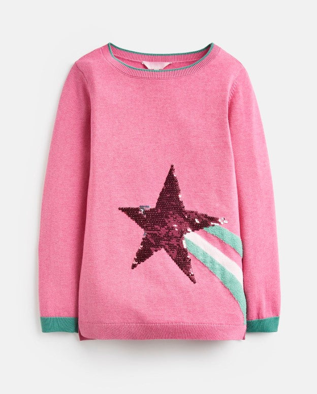 Joules, Girl - Sweaters,  Joules Miranda Blossom Shooting Star Intarsia Sweater
