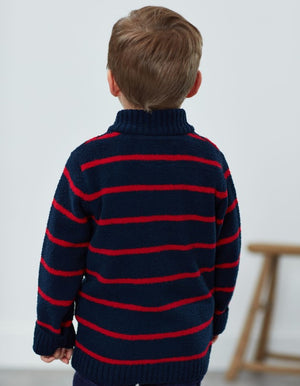 Joules Navy Stripe Chenille Sweater
