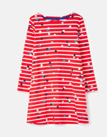 Joules, Girl - Dresses,  Joules Riviera Red Stripe Confetti Star Long Sleeve Dress