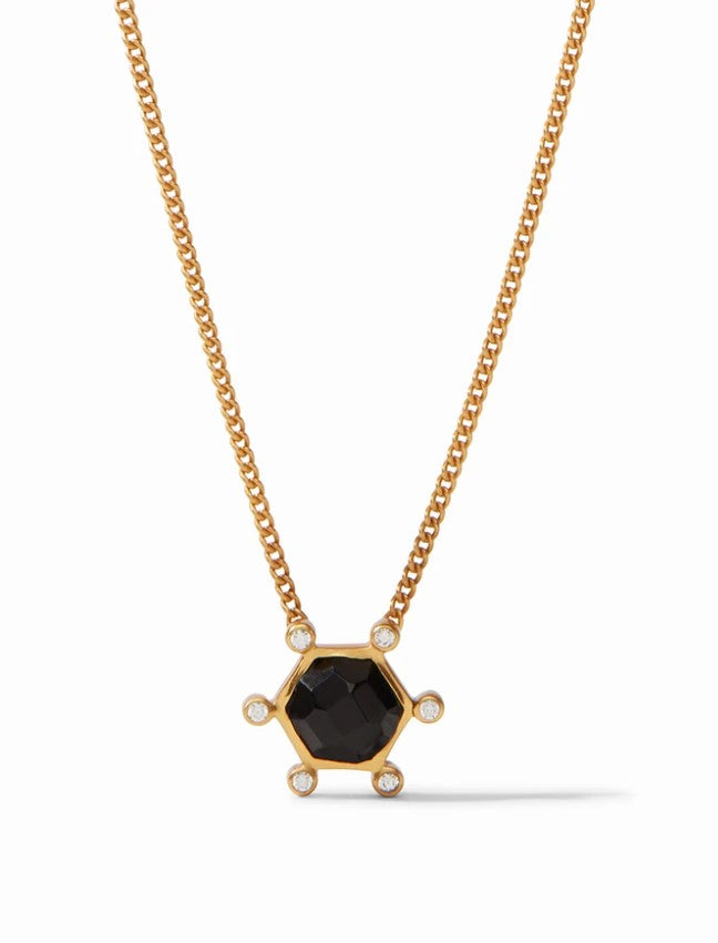 Julie Vos, Accessories - Jewelry,  Julie Vos - Cosmo Solitaire Necklace Obsidian Black