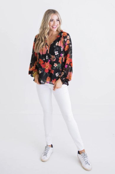 Karlie, Women - Shirts & Tops,  Floral Chiffon Top