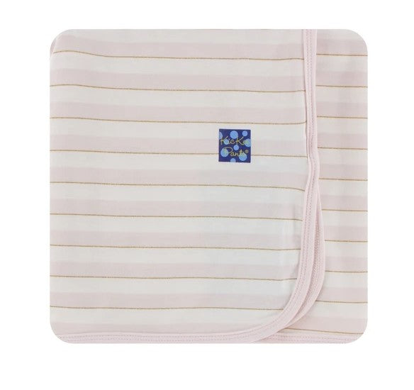 Kickee Pants - Print Swaddling Blanket - Everyday Heroes Sweet Stripe