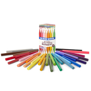 Kid Made Modern, Gifts - Kids Misc,  Kid Made Modern Washable Double Pointed Markers (Set of 30)