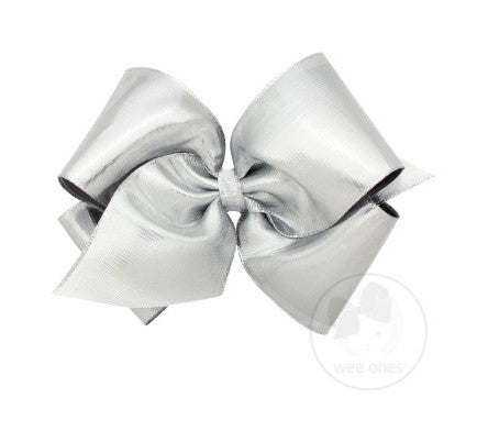 Wee Ones King Metallic Lame Overlay Bow