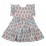 Pink Chicken Kit Dress Milky Blue Vintage