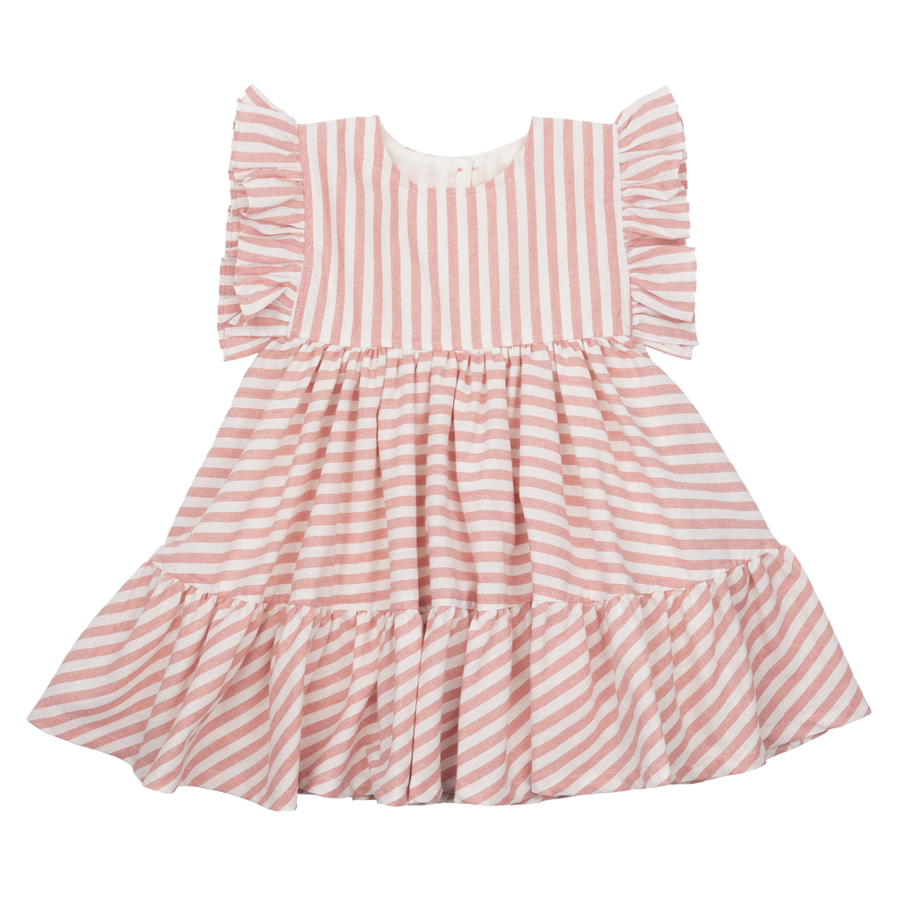 Pink Chicken Kit Dress Pink Stripe