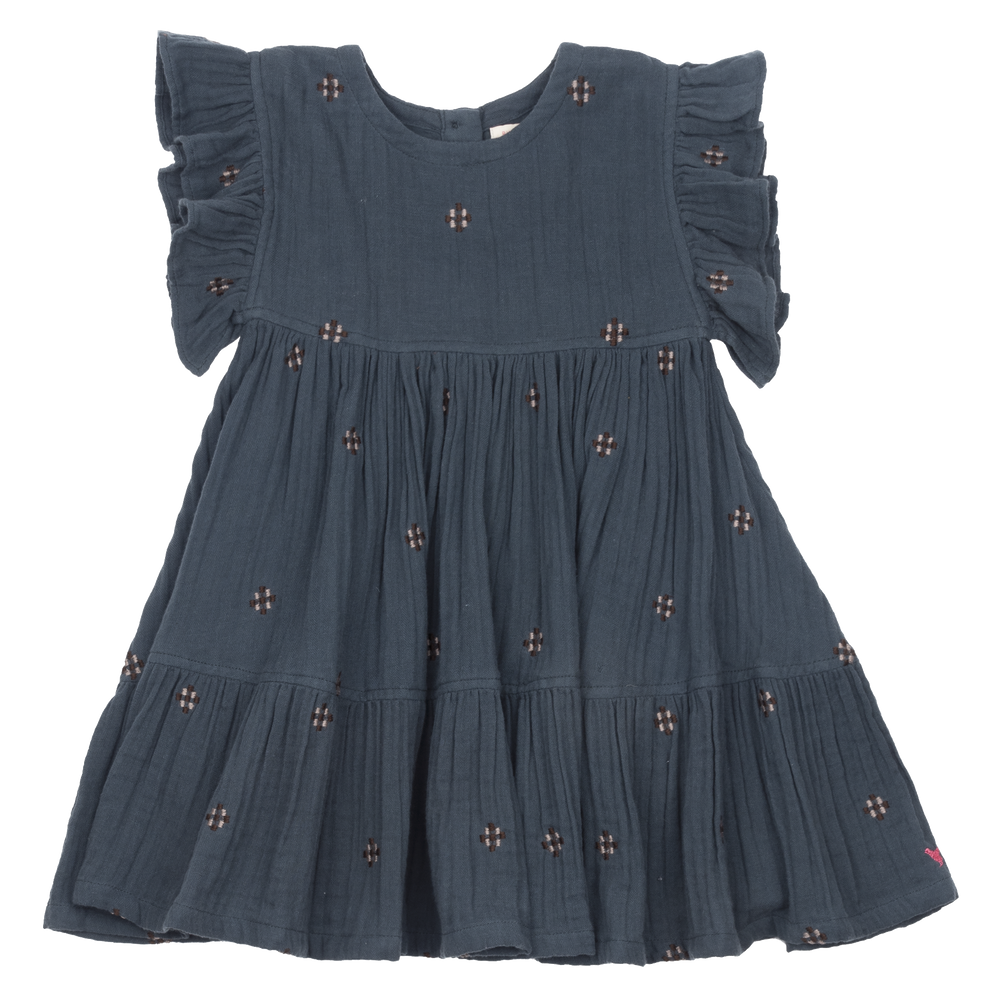 Pink Chicken Kit Dress Dark Slate