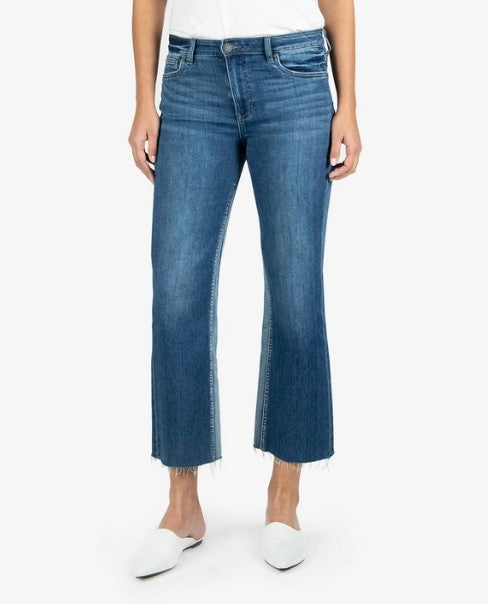 KUT from the Kloth, Women - Denim,  KUT from the Kloth - Kelsey High Rise Ankle Flare (Overtake Wash)