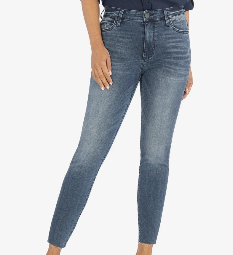 KUT from the Kloth, Women - Denim,  CONNIE HIGH RISE ANKLE SKINNY (ERUDITE WASH)