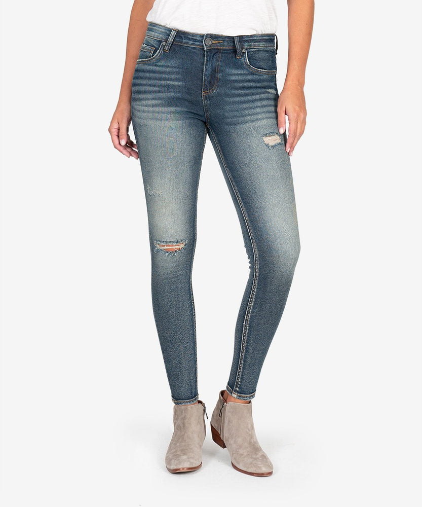 Donna Ankle Skinny ( React with Dark Stone Wash)