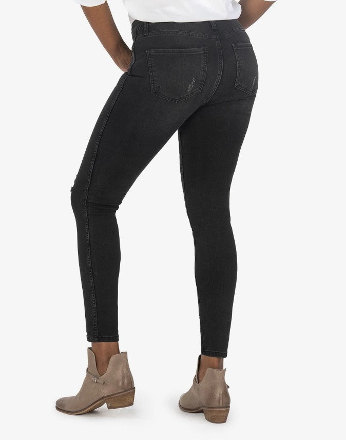 KUT from the Kloth, Women - Denim,  KUT from the Kloth - CONNIE HIGH RISE FAB AB SLIM FIT ANKLE SKINNY (HUNDRED WASH)