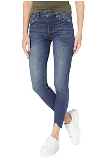 KUT from the Kloth, Women - Denim,  KUT from the Kloth Connie Ankle High-Rise Skinny Jeans w/ Dark Stone Base Wash