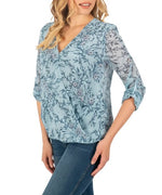 KUT from the Kloth, Women - Shirts & Tops,  KUT from the Kloth Floral Surplice Blouse