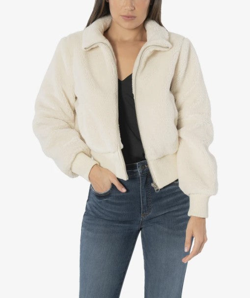 KUT from the Kloth, Women - Outerwear,  KUT from the Kloth Mireya Faux Sherpa Bomber