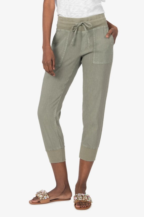 KUT from the Kloth Mirabella Drawcord Jogger (Olive)