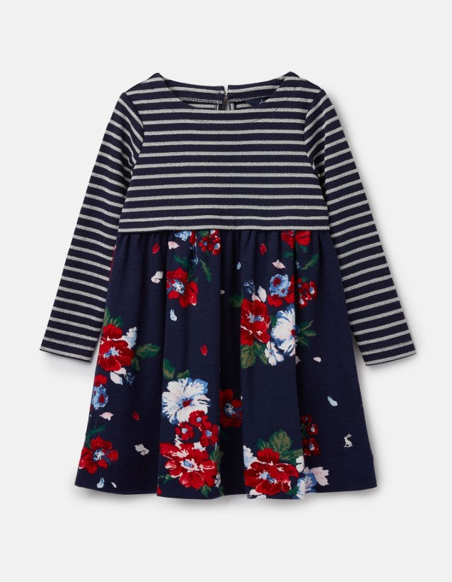 Joules, Girl - Dresses,  Joules Layla Navy Devito Floral Jersey Dress