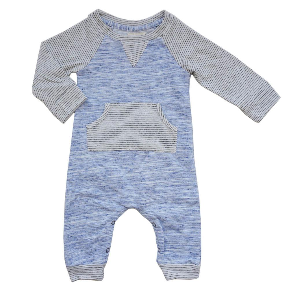 Miki Miette, Baby Boy Apparel - One-Pieces,  Miki Miette Leo Fog Romper
