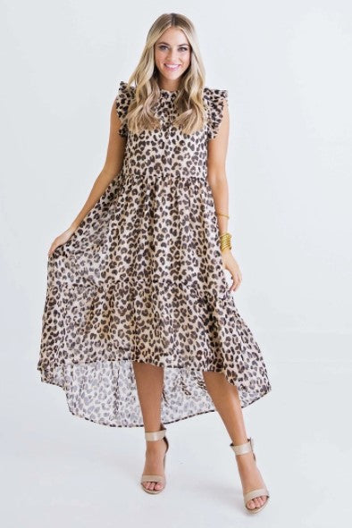 Karlie, Women - Dresses,  Leopard Hi/Lo Dress