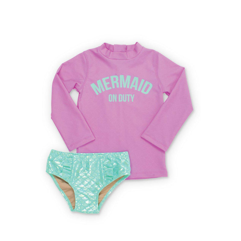 Lilac Mermaid on Duty Swimset-Girl - Swimwear-Shade Critters-2T-Eden Lifestyle