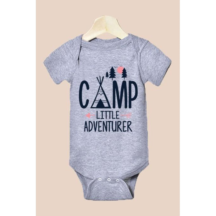 Little Camper Onesie-Baby Boy Apparel - One-Pieces-Eden Lifestyle-Newborn-Eden Lifestyle