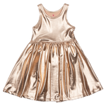 Pink Chicken Liza Lame Rose Gold Dress