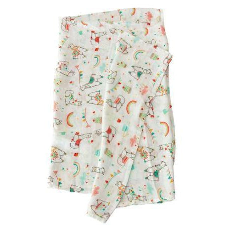 Loulou LOLLIPOP - Swaddle Blanket - Llama-Baby - Swaddles-Loulou Lollipop-Eden Lifestyle