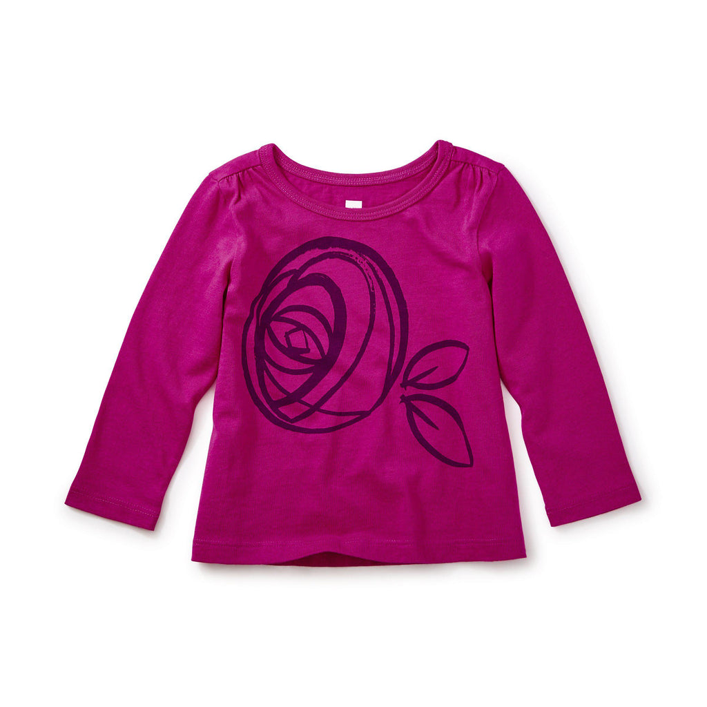Mackintosh Rose Tee-Baby Girl Apparel - Tees-Tea Collection-3-6M-Eden Lifestyle