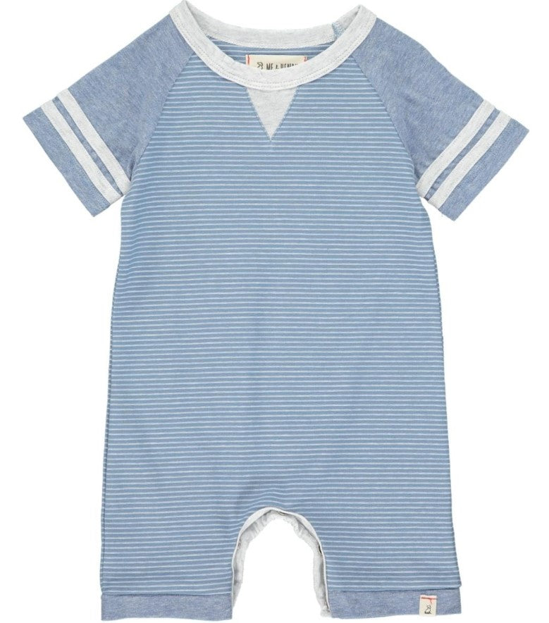 Me & Henry - Blue/White Stripe Romper