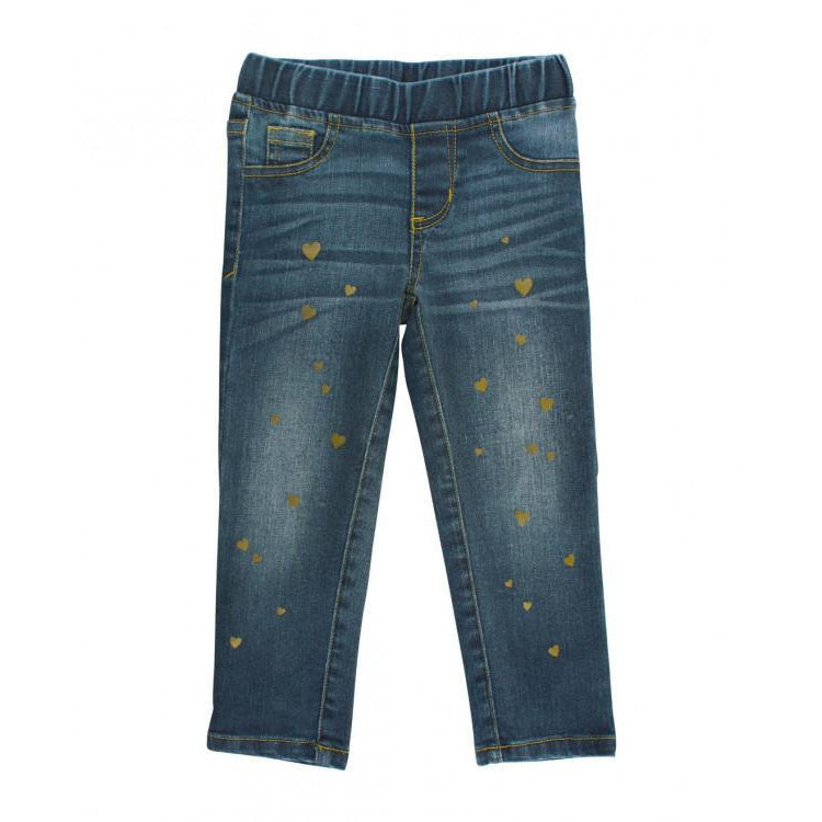 Medium Wash Denim Hearts Jegging-Baby Girl Apparel - Leggings-Ruffle Butts-12-18M-Eden Lifestyle