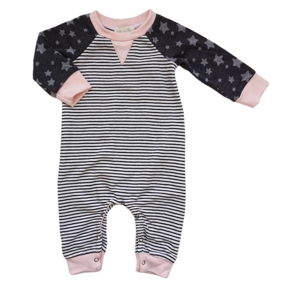 Miki Miette, Baby Girl Apparel - Rompers,  Miki Miette Henry Romper Moto