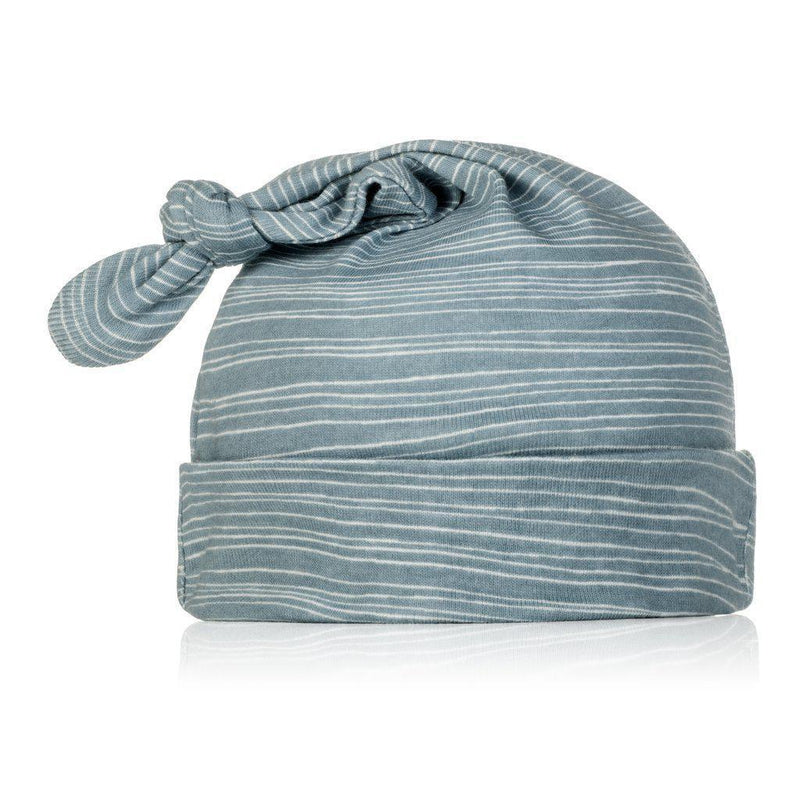 Milkbarn Knotted Hat - Blue Stripe-Accessories - Hats-Milkbarn-6-12M-Eden Lifestyle