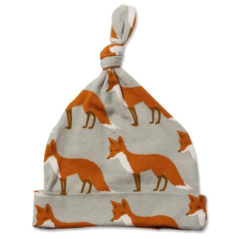 Milkbarn Knotted Hat - Orange Fox-Accessories - Hats-Milkbarn-3-6M-Eden Lifestyle
