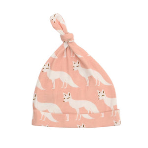 Milkbarn Knotted Hat - Pink Fox-Accessories - Hats-Milkbarn-6-12M-Eden Lifestyle