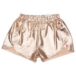 Pink Chicken, Girl - Shorts,  Pink Chicken Millie Metallic Short Rose Gold