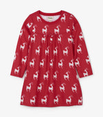Hatley, Girl - Pajamas,  Hatley Mistletoe Deer Nightdress