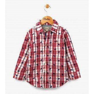 Hatley Moose Herd Button Down Shirt-Boy - Shirts-Hatley-3-Eden Lifestyle