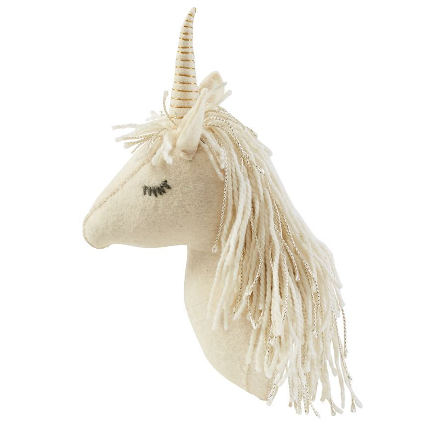 Gold Mane Unicorn Wall Mount-Baby - Nursery Organization-Mud Pie-Eden Lifestyle