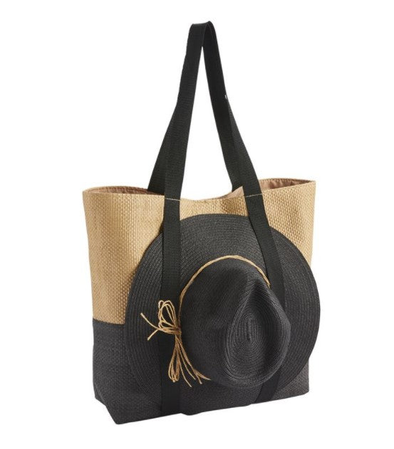 Mud Pie - Hat and Tote Set - Eden Lifestyle