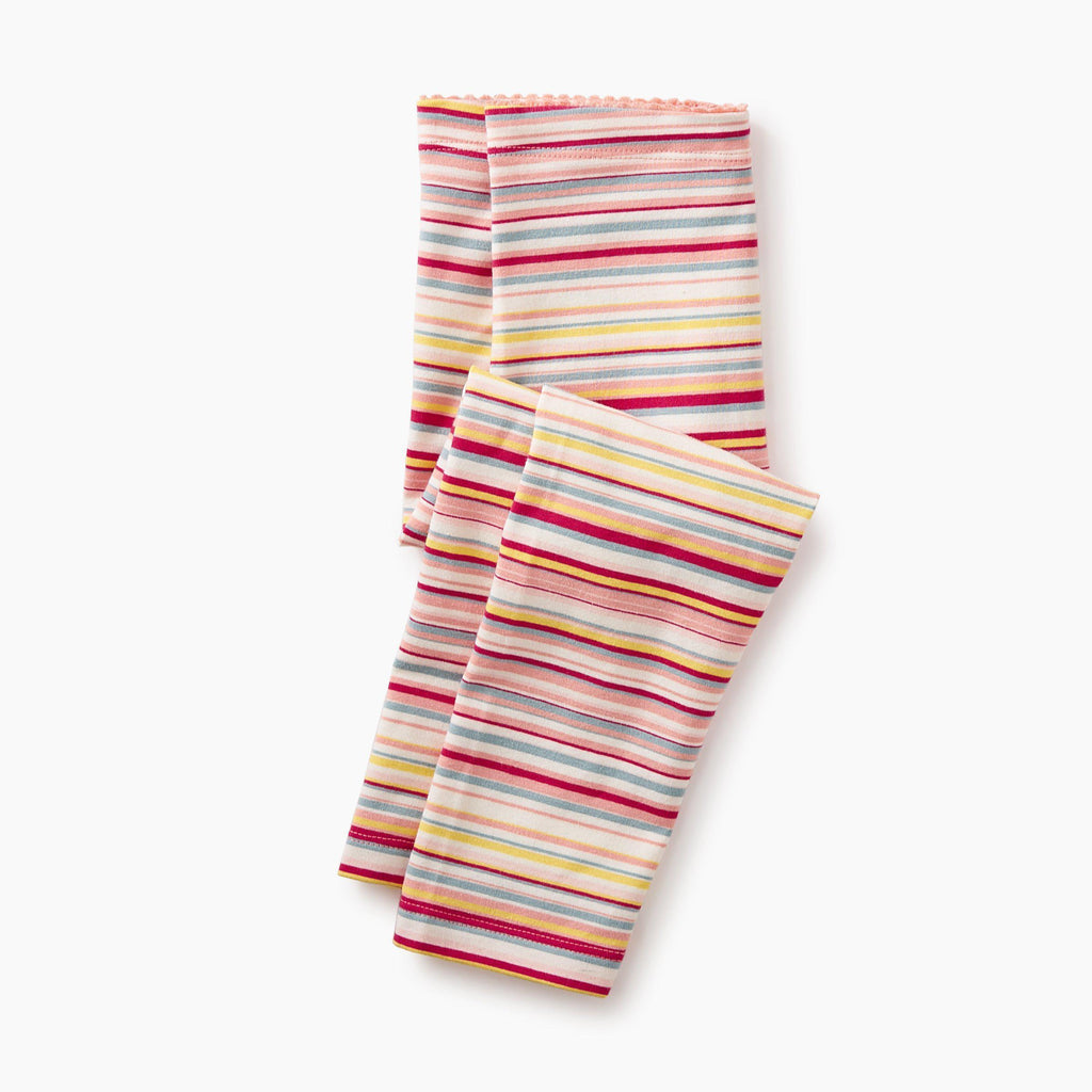 Multi Stripe Capri Leggings-Girl - Leggings-Tea Collection-2-Eden Lifestyle