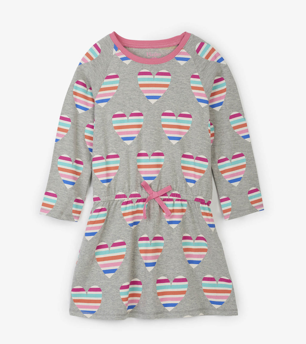 Hatley - Multi color Hearts Drop Waist Dress