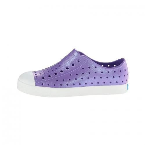 Native Jefferson Iridescent - Starfish Purple/Shell White-Shoes - Girl-Native-C6-Eden Lifestyle