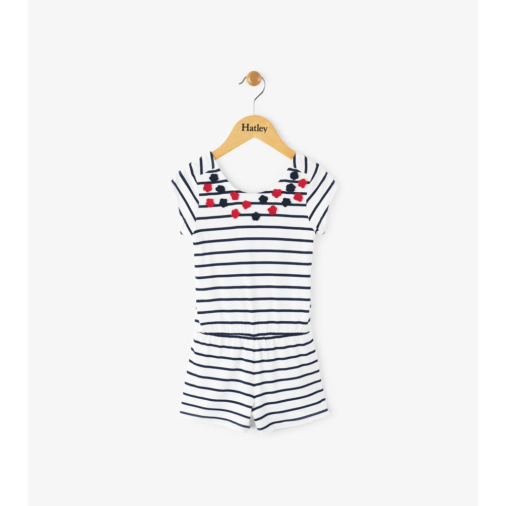 Hatley Nautical Stripped Romper-Girl - Rompers-Hatley-4-Eden Lifestyle