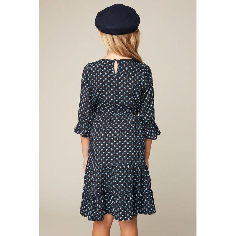 Navy Midi Dress-Girl - Dresses-Hayden LA-7-Eden Lifestyle