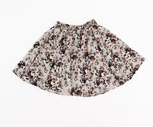 Olivia Leigh Emily - Grey Floral Skirt