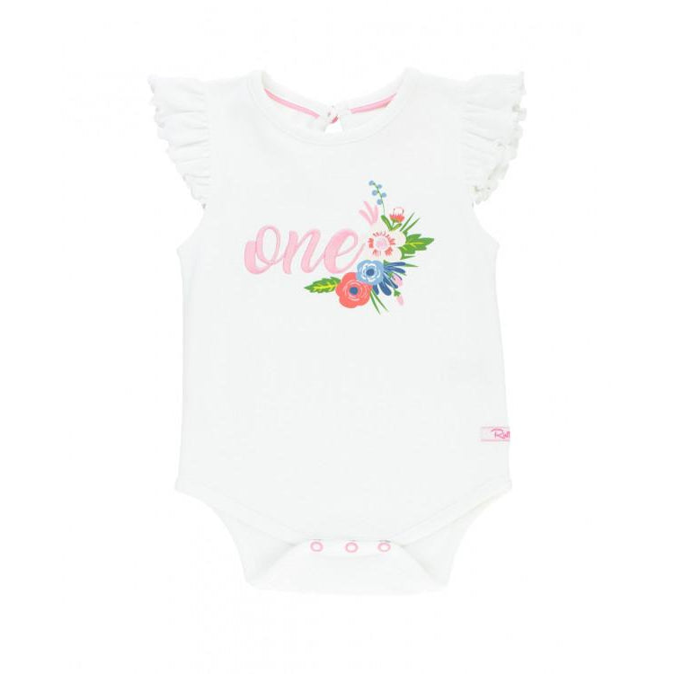 English Garden First Birthday Bodysuit-Baby Girl Apparel - One-Pieces-Ruffle Butts-18-24M-Eden Lifestyle