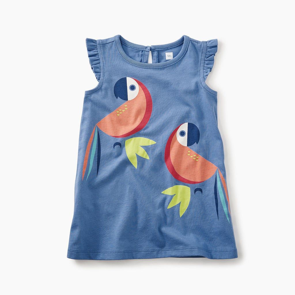 Tea, Dress, Eden Lifestyle, Parrot Graphic Baby Dress