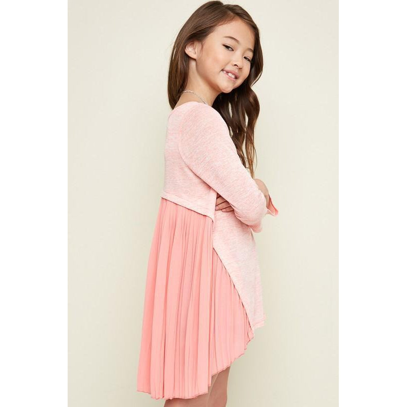 Peach Long Sleeve Top-Girl - Shirts & Tops-Hayden LA-7-Eden Lifestyle