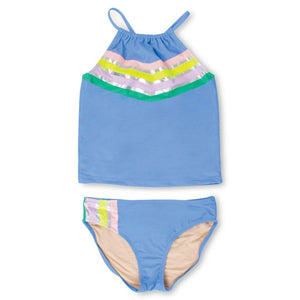 Shade Critters, Girl - Swimwear,  Shade Critters Periwinkle It's All Rainbows Tankini Set